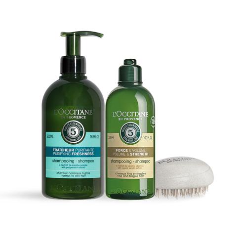 草本潔淨蓬鬆洗髮組