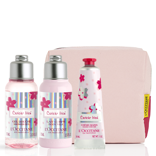 New Cherry Blossom Collection Set With A Cosmetic Bag