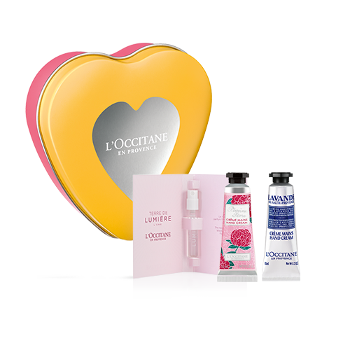 POUCH HEART HAND & FRAGRANCE FLORAL SUMMER