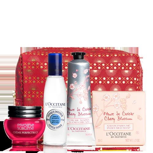 Gėlinis rinkinys su kosmetine | L'OCCITANE