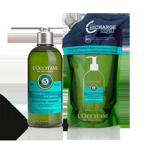 Combo Eco-Refil Shampoo Aromacologia Refrescante