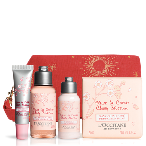 Cherry blossom Set With Pouch | L'OCCITANE