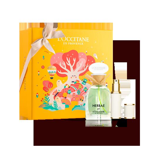 Presente Especial Herbae Par L'Occitane e Atomizer para Viagem