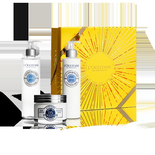 Odżywczy zestaw Masło She dla suchej i wrażliwej skóry twarzy  w specjalnej cenie!