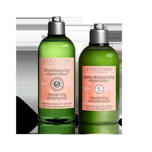 Shampoo e Condicionador Reparador Aromacologia