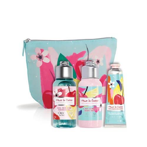 Komplet v torbici Sadni češnjevi cvetovi