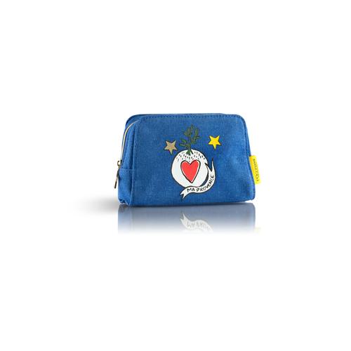 Mėlyna mini CASTELBAJAC kosmetinė manikiūro reikmenims