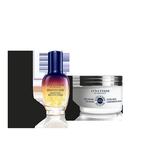 Moisturizing Face Cream For Dry Skin & Reset Duo