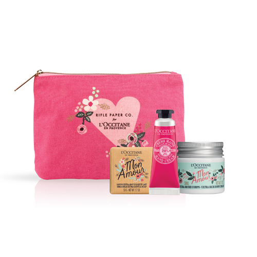 Shea Rifle Paper Co. Bodycare Pouch Pink