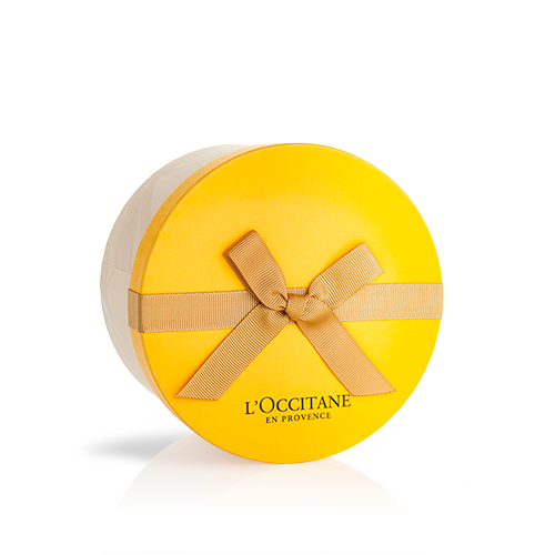 Caixa Redonda Amarela (14x8.5cm)