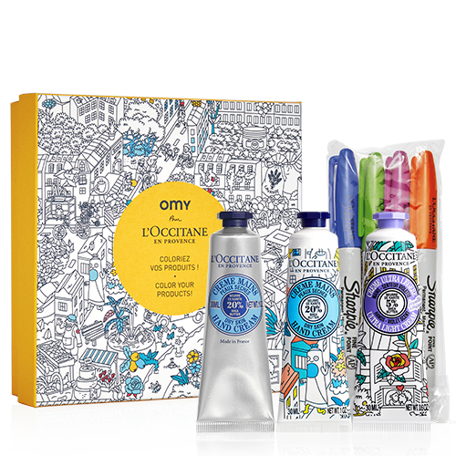 Hand care kit with coloring markers
