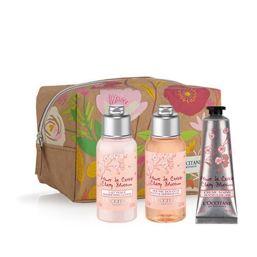 Komplet v torbici Romantični češnjev cvet