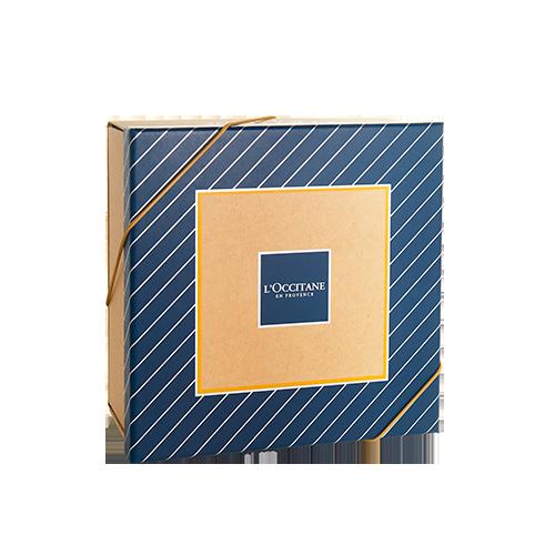 Caixa Listras Azul e Dourado (9x20x20cm)