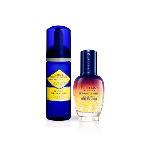 Rotina Duo Facial Immortelle e Overnight Reset