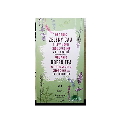 BIO Zelený sypaný čaj s levanduľou chodouňskou