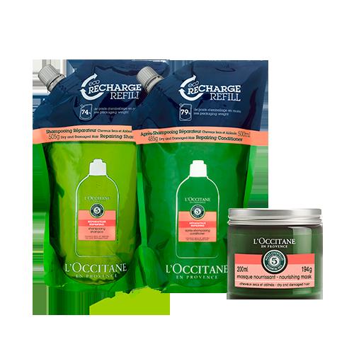 Rotina Eco-Refil e Máscara Reparadora Aromacologia