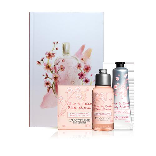 Composição Especial Flor de Cerejeira e Caderno