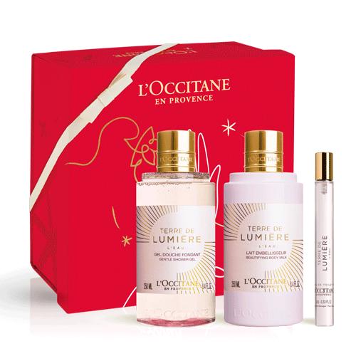 Darilni kompletNežni Terre de Lumière L'Eau s parfumom