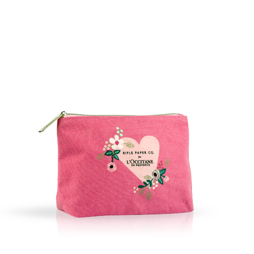 Pink Shea Collection Cosmetic Bag Mon Amour
