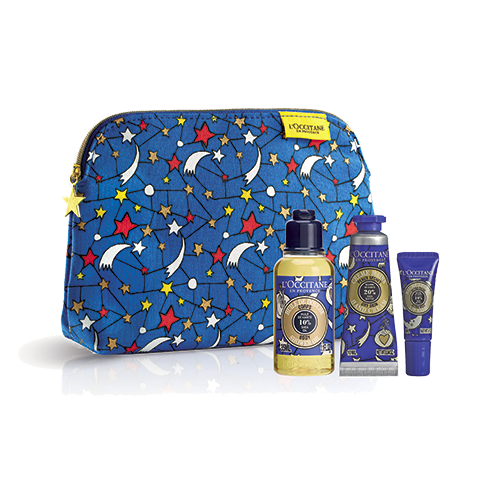 Xmas Shea Care Pouch - Blue