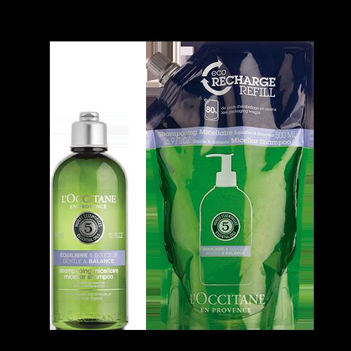 Rotina Shampoo Micelar Aromacologia Equilíbrio Natural + Eco-Refil