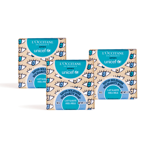Unicef乳油木牛奶公益皂組