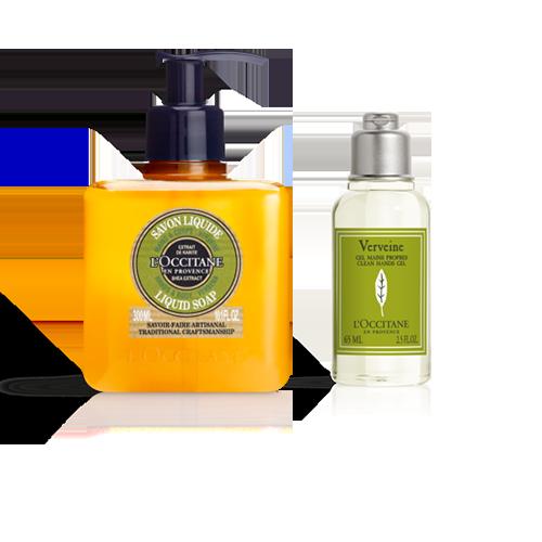 Duo Shea Verbena Liquid Soap & Verbena Clean Hands Gel