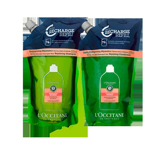 Duo Eco-Refil Shampoo e Condicionador Reparador Aromacologia