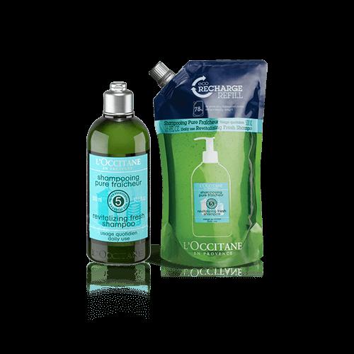 Aromachologie Fresh Shampoo Refill Duo
