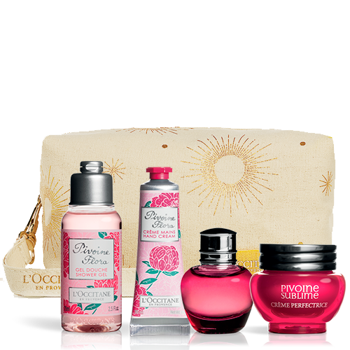 Peony Set With Pouch | L'OCCITANE