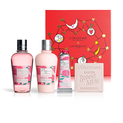 FLOWERY BODY CARE FOR HER - PIVOINE SET