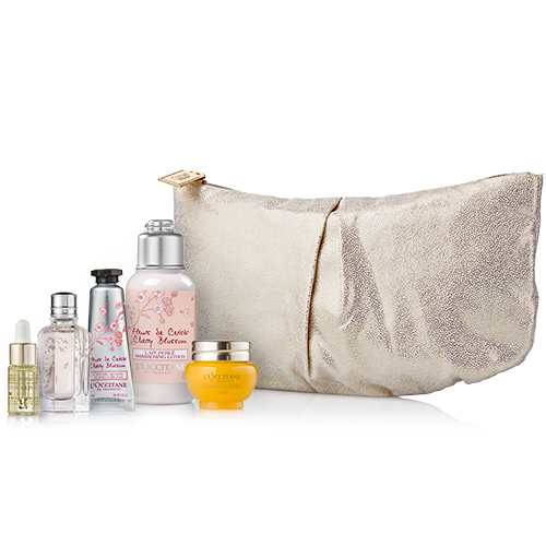 Face & body care kit in pouch