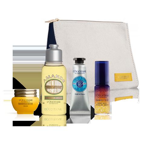 Sada Top výrobky s kosmetickou taštičkou
