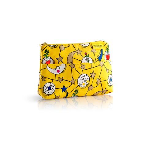 Geltona šventinė CASTELBAJAC kosmetinė su kišenėle