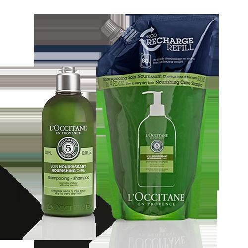 Combo Eco- Refil Shampoo Aromacologia Cuidado Nutritivo