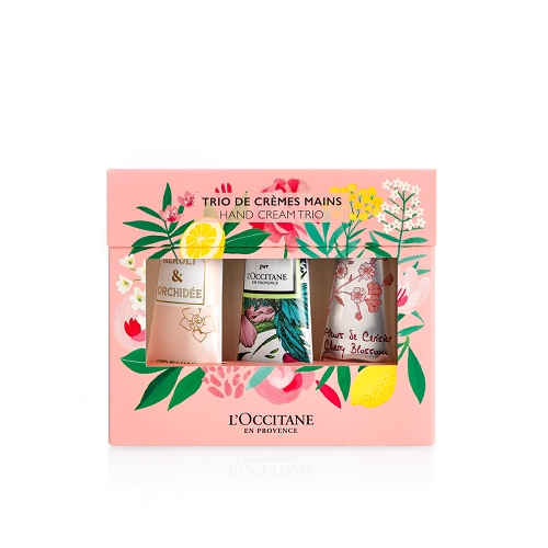 Flower trio hand cream