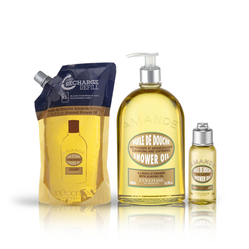 ALMOND SHOWER OIL TRIO