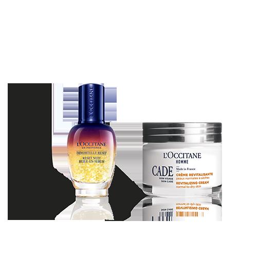 Revitalizing Face Cream For Men & Reset Duo