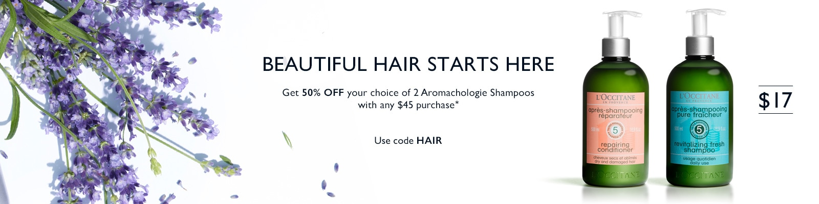 Use code HAIR