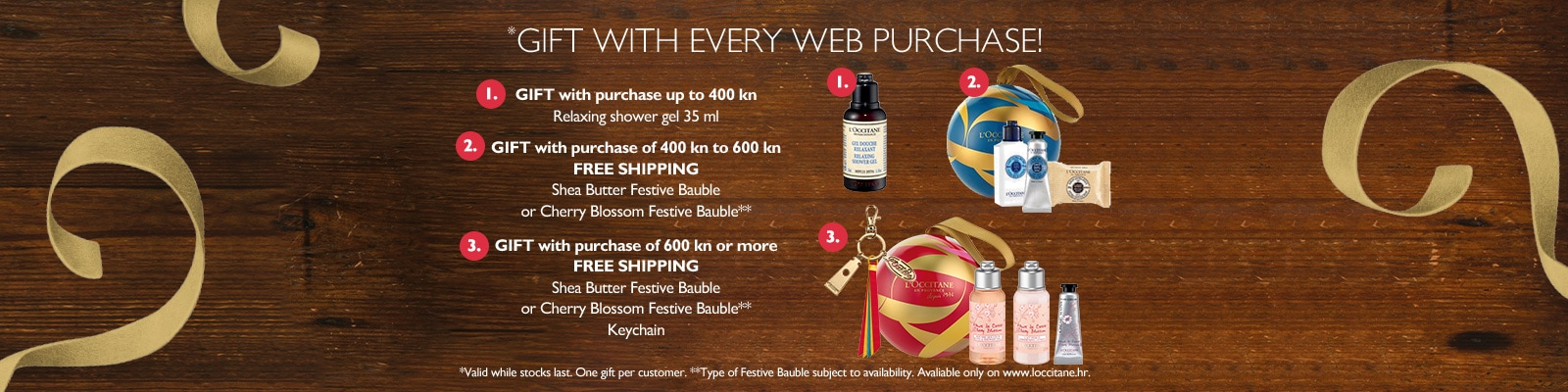 GIFT with every web purchase!