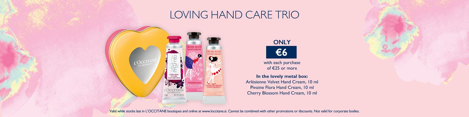 Loving hand care trio