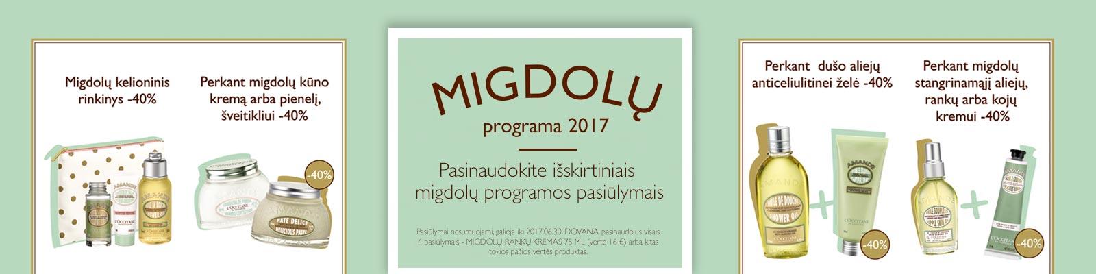 Migdolų programa 2017