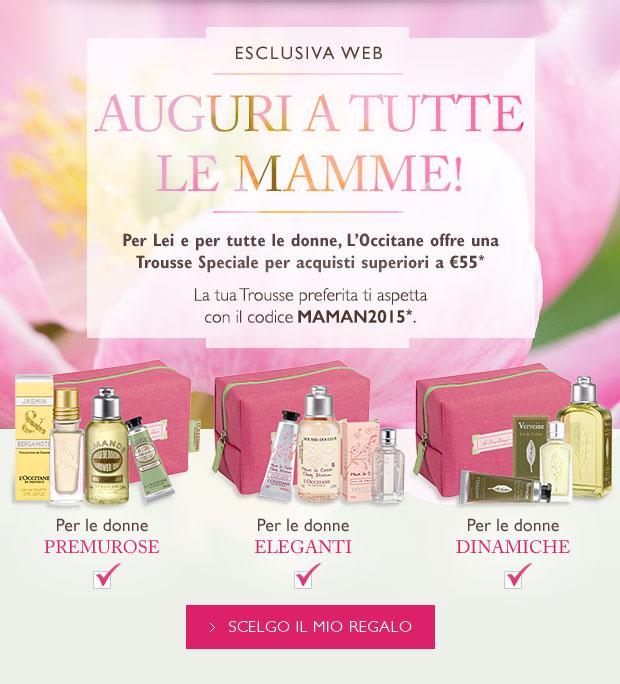 L'OCCITANE ti offre una Trousse speciale Festa della Mamma per acquisti superiori a €55*