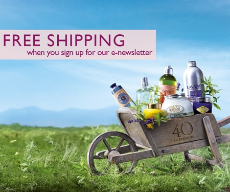 Sign up with L'OCCITANE Singapore now!