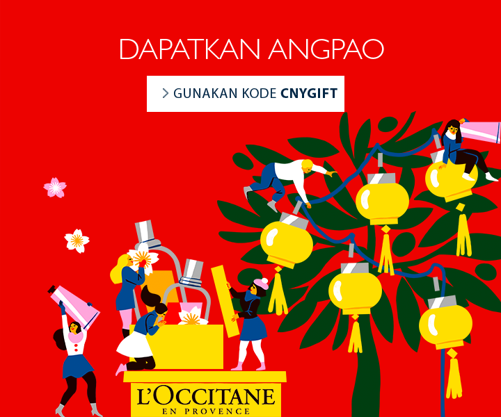 Dapatkan Ang Pao dengan min. pembelanjaan Rp. 1.000.000 dengan menggunakan kode CNYGIFT