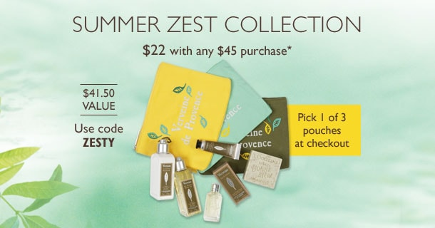 Summertime Zest Collection.  Use code ZESTY