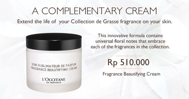 Extend the life of your Collection de Grasse fragrance on your skin