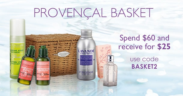 spend $60 anr receive the provencal basket for $25