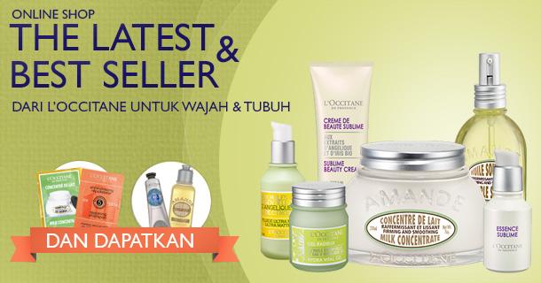 Online Shop! The latets & best seller dari L'OCCITANE untuk Wajah & Tubuh