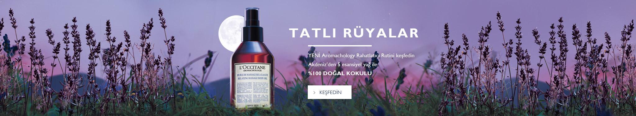 TATLI RÜYALAR YENİ Aromachology Rahatlatıcı Rutini keşfedin Akdeniz'den 5 esansiyel yağ ile %100 DOĞAL KOKULU Keşfedin
